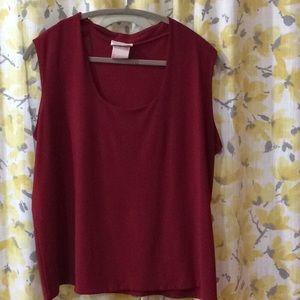 Laura plus dress red tank top